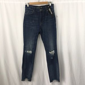 """Distressed """"High Rise Ankle Legging"""" Jeans - NWT"""